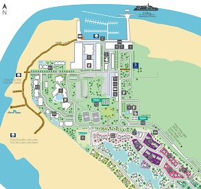 Mapa do Troia Resort