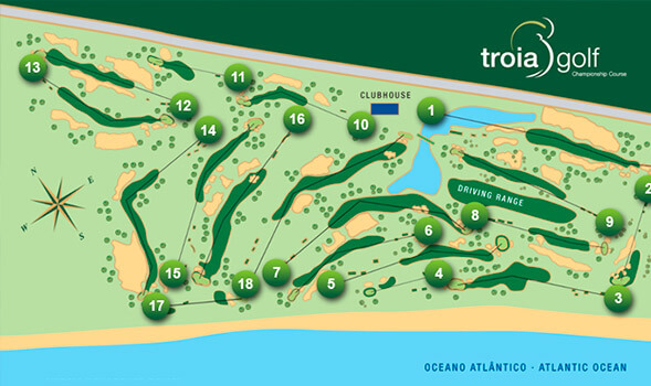 Troia Golf Map
